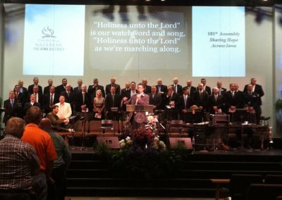 Singing with Iowa Nazarene Minister's Choir