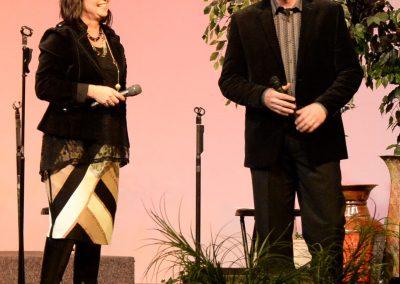 Charlene & David on stage.