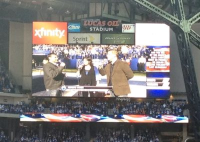 Singing the National Anthem at Lucas Oil Stadium in 2018