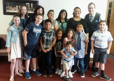 Meeting the Tsingine family Sunday in Page, AZ