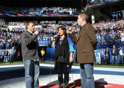 National Anthem at Lucas Oil Stadium in 2011
